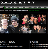 Sitio web de Daughtry Official