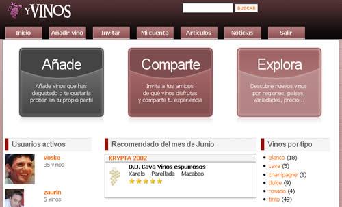 yVinos web