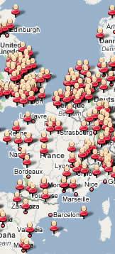 Mapa de usuarios de Spaniards