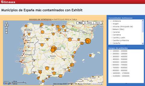 Mapa ciudades mas contaminadas